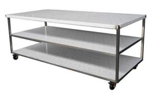 Stainless Steel Bench On Castors - Style B
