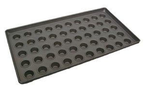 Mini Muffin Tray 50 Cups Teflon Coated, 16 Inch - M50