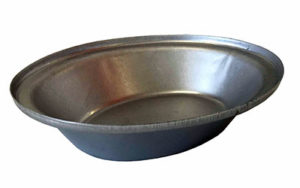 Single Self Cutting Pie Tin Oval - Aluminised Steel - NZ