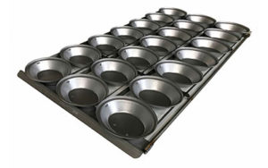 Self Cutting Pie Tray Oval - 3 Rows x 5, Euro - Panglazed NZ0-15-EuroP