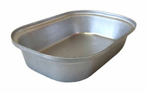 Single Self Cutting Pie Tin Oblong - Aluminised Steel - O1