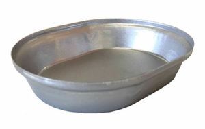 Single Self Cutting Pie Tin Oval - Aluminised Steel - O2