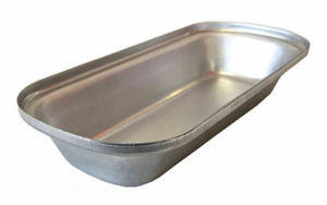 Single Self Cutting Pie Tin Oblong Traveller - Aluminised Steel - OL