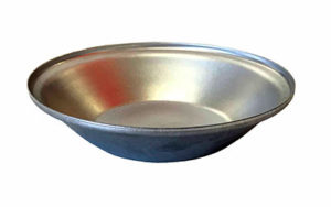 Single Self Cutting Pie Tin Round - Aluminised Steel - P1