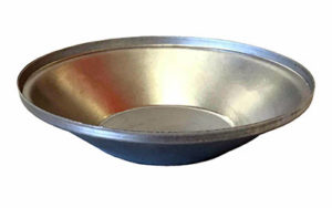 Single Self Cutting Pie Tin Round - Aluminised Steel - P5