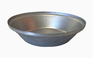 Single Self Cutting Pie Tin Round - Aluminised Steel - P6