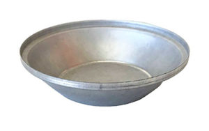 Single Self Cutting Pie Tin Round - Aluminised Steel - P8