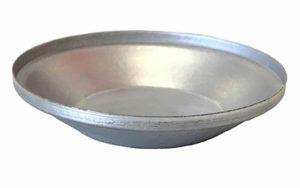 Single Self Cutting Pie Tin Round - Aluminised Steel - P9