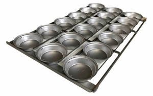Pie Tray Round 16 Inch 3 Rows x 6 - Panglazed R2WF1816P