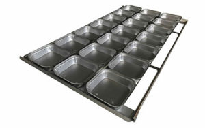 Square Pie Tray 16 Inch 3 Rows x 7 - Panglazed - S12116P