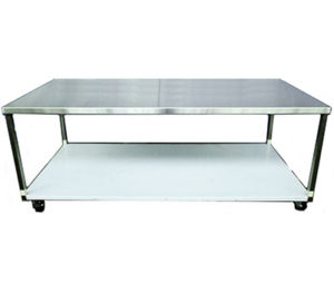 Stainless Steel Bench On Castors - Style A