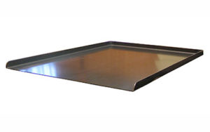 3 Sided Flat Baking Tray Black Steel 16 Inch - OTB3-16