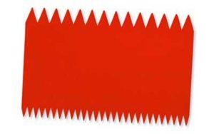 Comb Scraper Red