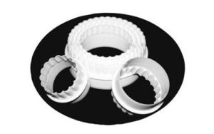 Scalloped Round Cookie Cutter Plastic - CP1106