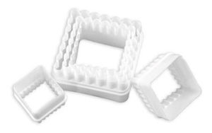 Scalloped Square Cookie Cutter Plastic - CP2106