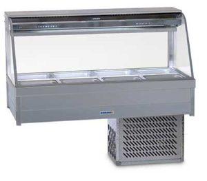 Roband Curved Glass Cold Food Display Bar - CFX24RD