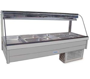 Curved Glass Cold Plate & Cross Fin Coil - Piped & Foamed - No Motor