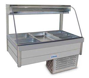 Roband Curved Glass Cold Food Display Bar - CRX23RD