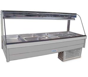 Curved Glass Refrigerated Cold Plate & Cross Fin Coil