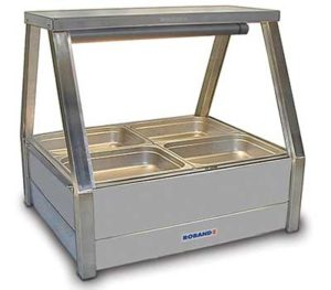 Roband Straight Glass Hot Food Display Bar - E22