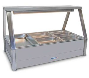 Roband Straight Glass Hot Food Display Bar - E23