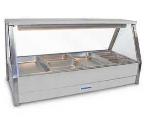 Roband Straight Glass Hot Food Display Bar - E24