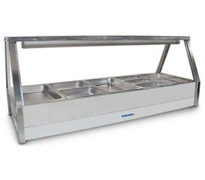 Roband Straight Glass Hot Food Display Bar - E25RD