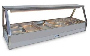 Roband Straight Glass Hot Food Display Bar - E26RD