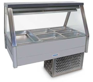 Roband Straight Glass Cold Food Display Bar - EFX23RD