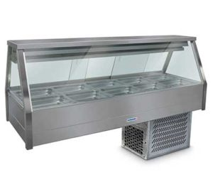Roband Straight Glass Cold Food Display Bar - EFX25RD