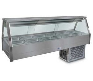 Roband Straight Glass Cold Food Display Bar - EFX26RD