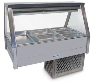Roband Straight Glass Cold Food Display Bar - ERX23RD