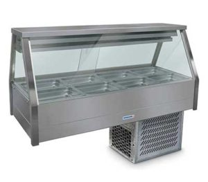 Roband Straight Glass Cold Food Display Bar - ERX24RD