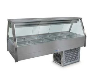 Roband Straight Glass Cold Food Display Bar - ERX25RD