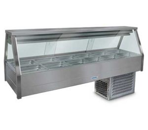 Roband Straight Glass Cold Food Display Bar - ERX26RD
