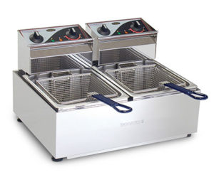 Roband Deep Fryer F25 - Double Pan 2 x 5 Litre Tanks
