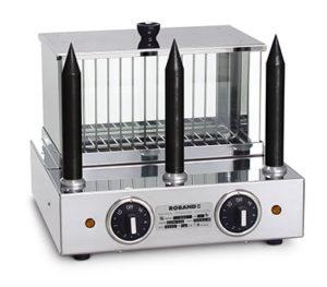 Roband Hot Dog Warmer With 3 Teflon Bun Spikes