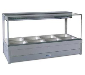 Roband Square Glass Hot Food Display Bar - S24