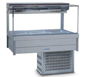 Roband Square Glass Cold Food Display Bar - SFX23RD
