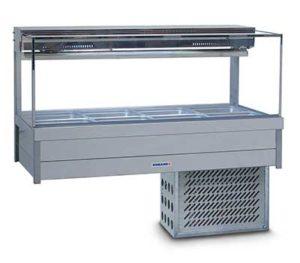 Roband Square Glass Cold Food Display Bar - SFX24RD