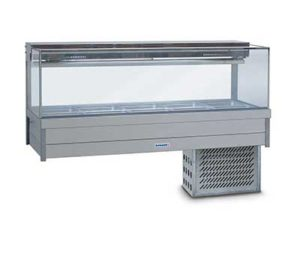 Roband Square Glass Cold Food Display Bar - SFX25RD