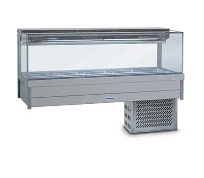 Square Glass Cold Food Display Bar-SFX25RD