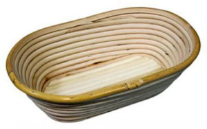Rattan Proofing Basket Oval 20cm