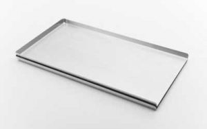 3 Sided Flat Baking Tray Aluminium Pressed 16 Inch - BT3P16