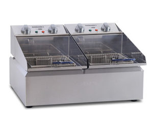 Roband Frypod Fryer FR25 - Double Pan 2 x 5 Litre Tanks