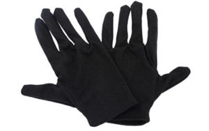 Cotton Gloves Black (pk 12) - LP44310