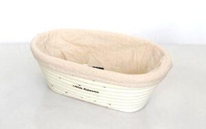 Banneton Rattan Proofing Basket & Liner - Oval 20cm x 14cm