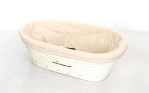 Banneton Rattan Proofing Basket & Liner - Oval 24cm x 14cm