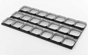 Square Pie Tray 16 Inch 3 Rows x 7 - PPS1/16S