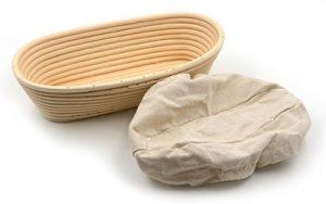 Banneton Proofing Basket & Liner - Oval 23cm x 11cm